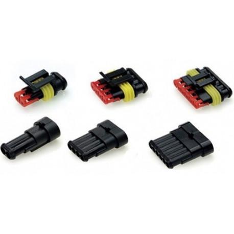 Káble, očká, konektory Vode odolný konektor 1 až 6 pinový | race-shop.sk