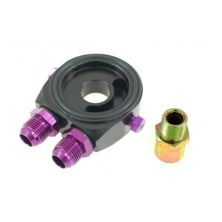 Adaptéry pod olejový filter Adaptér pod olejový filter vstup/výstup AN8 black | race-shop.sk