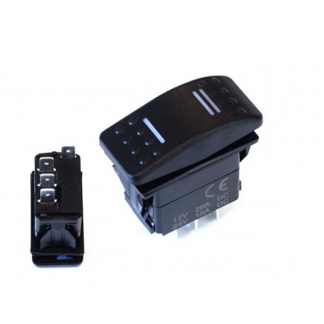 Štartovacie tlačítka a vypínače Univerzálny prepínač Rocker s LED | race-shop.sk