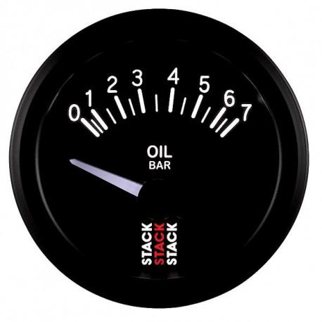 Budíky STACK štandard 52mm Budík STACK tlak oleja 0- 7 bar (elektrický) | race-shop.sk