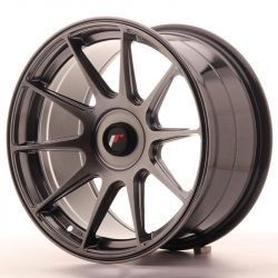 Japan Racing JR11 17x9 ET25-35 Blank Hiper Black