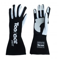 RACES TRST2 gloves with FIA approval (inside stitching) black
