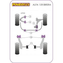 Powerflex Predný silentblok horného predného ramena, Nastaviteľný Alfa Romeo 159 (2005-2011)