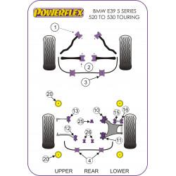 Powerflex Silentblok uloženia zadnej nápravnice, vložka BMW E39 5 Series 520 to 530 Touring