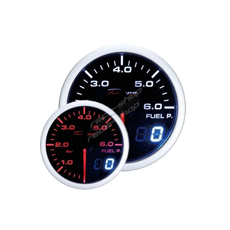 Depo Racing Gauge : Depo racing gauge fuel pressure dual view series race