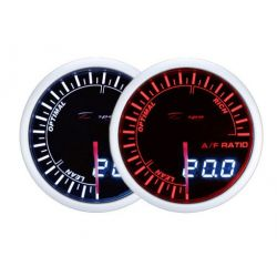 Budík DEPO racing Pomer palivo/vzduch - Dual view séria