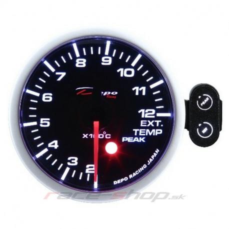 Budíky DEPO PK séria 52mm Programovateľný Budík DEPO racing teplota výfukových plynov   race-shop.sk