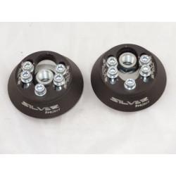 Horné nastaviteľné uloženia tlmičov Silver Project pre VW POLO 6N1 a LUPO (6X1, 6E1) - nastaviteľné