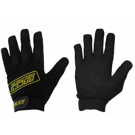 Ochranné rukavice - mechanik Rukavice RACES Mechanic žlté | race-shop.sk