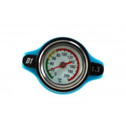 Vysokotlaková zátka chladiča D1spec 1,3BAR 15mm s teplomerom