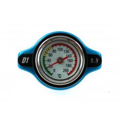 Vysokotlaková zátka chladiča D1spec 0,9BAR 15mm s teplomerom
