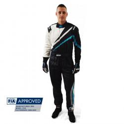 FIA Kombinéza RRS EVO Dynamic Black/ Blue