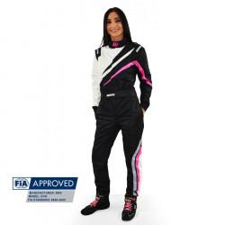 FIA Kombinéza RRS EVO Dynamic Black/ Pink