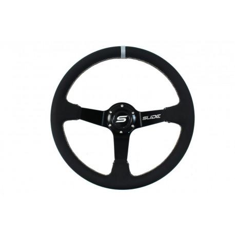 Volanty 3 ramenný volant SLIDE, 350mm, EKO koža, 90mm odsadenie | race-shop.sk