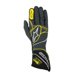 Rukavice Alpinestars Tech 1ZX s FIA homologizáciou (vonkajšie šitie) žltá