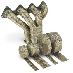 Termo izolačná páska na zvody a výfuk DEI - 25mm x 30m Titanium