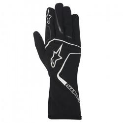 Rukavice Alpinestars Tech 1 K RACE bez FIA homologizácie - čierno / biele