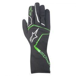 Rukavice Alpinestars Tech 1 K RACE bez FIA homologizácie - čierno / zelené