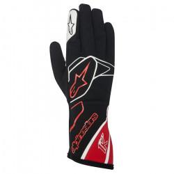 Rukavice Alpinestars Tech 1 K bez FIA homologizácie - čierno-bielo-červené