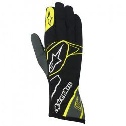 Rukavice Alpinestars Tech 1 K bez FIA homologizácie - čierno-bielo-žlté