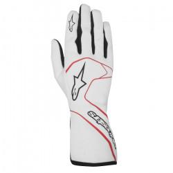 Rukavice Alpinestars Tech-1 Race s FIA homologizáciou - bielo / červené