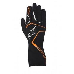 Rukavice Alpinestars Tech 1 K RACE bez FIA homologizácie - čierno / oranžové