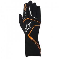 Rukavice Alpinestars Tech 1 K RACE bez FIA homologizácie - detské - čierno / oranžové