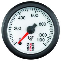 Budík STACK teplota výfukových plynov 0-1100°C (mechanický)