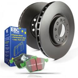 Predná sada EBC PD01KF288 - Brzdové kotúče Premium OE + brzdové dosky Greenstuff