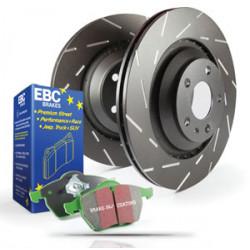 Zadná sada EBC PD06KR072 - Brzdové kotúče Ultimax Grooved + brzdové dosky Greenstuff