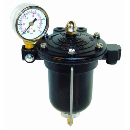 Palivové filtre Regulátor tlaku paliva KING pre karburátory s filtrom a budíkom | race-shop.sk