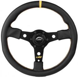 Športový volant Luisi Racing Corsa, 350mm, brúsená koža, 38mm odsadenie