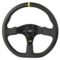 Športový volant Luisi Stealth Corsa, 355mm, koža, 42mm odsadenie