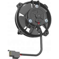 Univerzálny elektrický ventilátor SPAL 130mm - sací, 24V