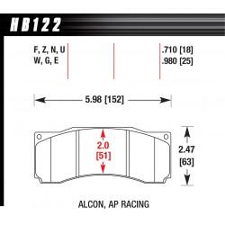 Predné brzdové dosky Hawk HB122U.710, Race, min-max 90°C-465°C