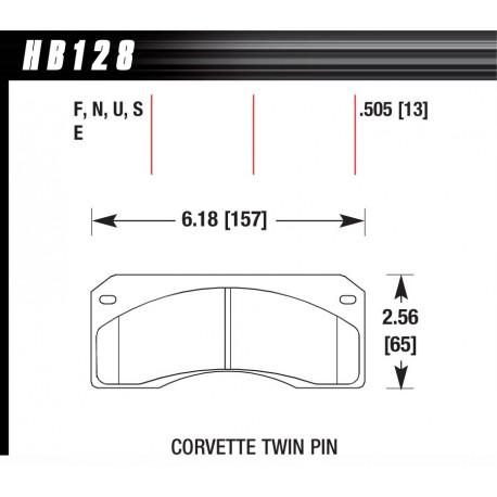 Brzdové dosky HAWK performance Brzdové dosky Hawk HB128F.505, Street performance, min-max 37°C-370°C | race-shop.sk