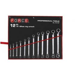 FORCE 12 dielna sada očkoplochých kľúčov - vyhnuté 75°