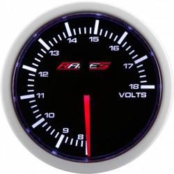 Budík RACES Clubman - Dobíjanie (voltmeter)