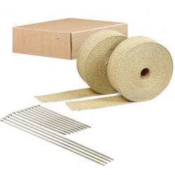 Termo izolačná páska na zvody a výfuk DEI 2ks - 5 cm x 15 m Tan + sťahovacie pásky