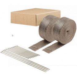 Termo izolačná páska na zvody a výfuk DEI 2ks - 5 cm x 15 m Titanium + sťahovacie pásky