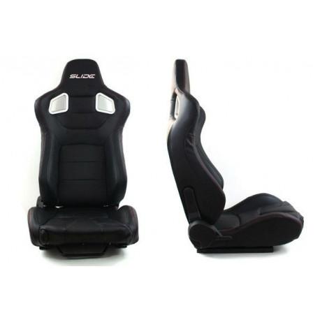 Športové sedačky Bez FIA homologizácie polohovateľné Športová sedačka SLIDE PVC, 2ks, vľavo a vpravo | race-shop.sk