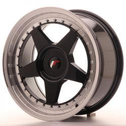 Japan Racing JR6 17x8 ET20-35 Blank Glossy Black