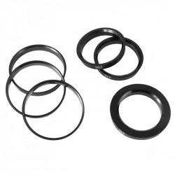 Sada 4ks vymedzovacích krúžkov 72.6-70.5mm Plastic