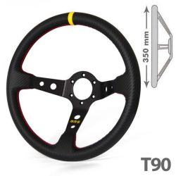 RRS Carbon 3 black/yellow dished 90 spokes 350mm