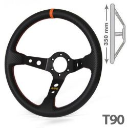 RRS Carbon 3 black/orange dished 90 spokes 350mm
