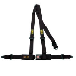 3 bodové bezpečnostné pásy OMP, čierne
