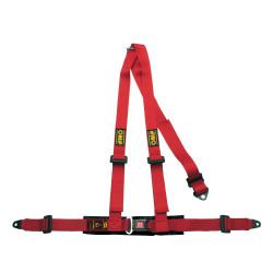 3 bodové bezpečnostné pásy OMP červené