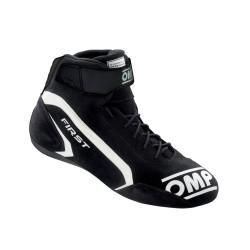 FIA topánky OMP FIRST black/white