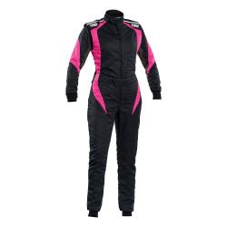 FIA Kombinéza OMP FIRST-ELLE čierno-fialová