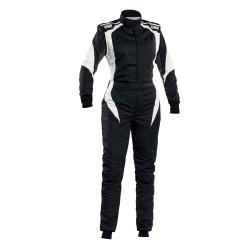 FIA Kombinéza OMP FIRST-ELLE čierno-biela
